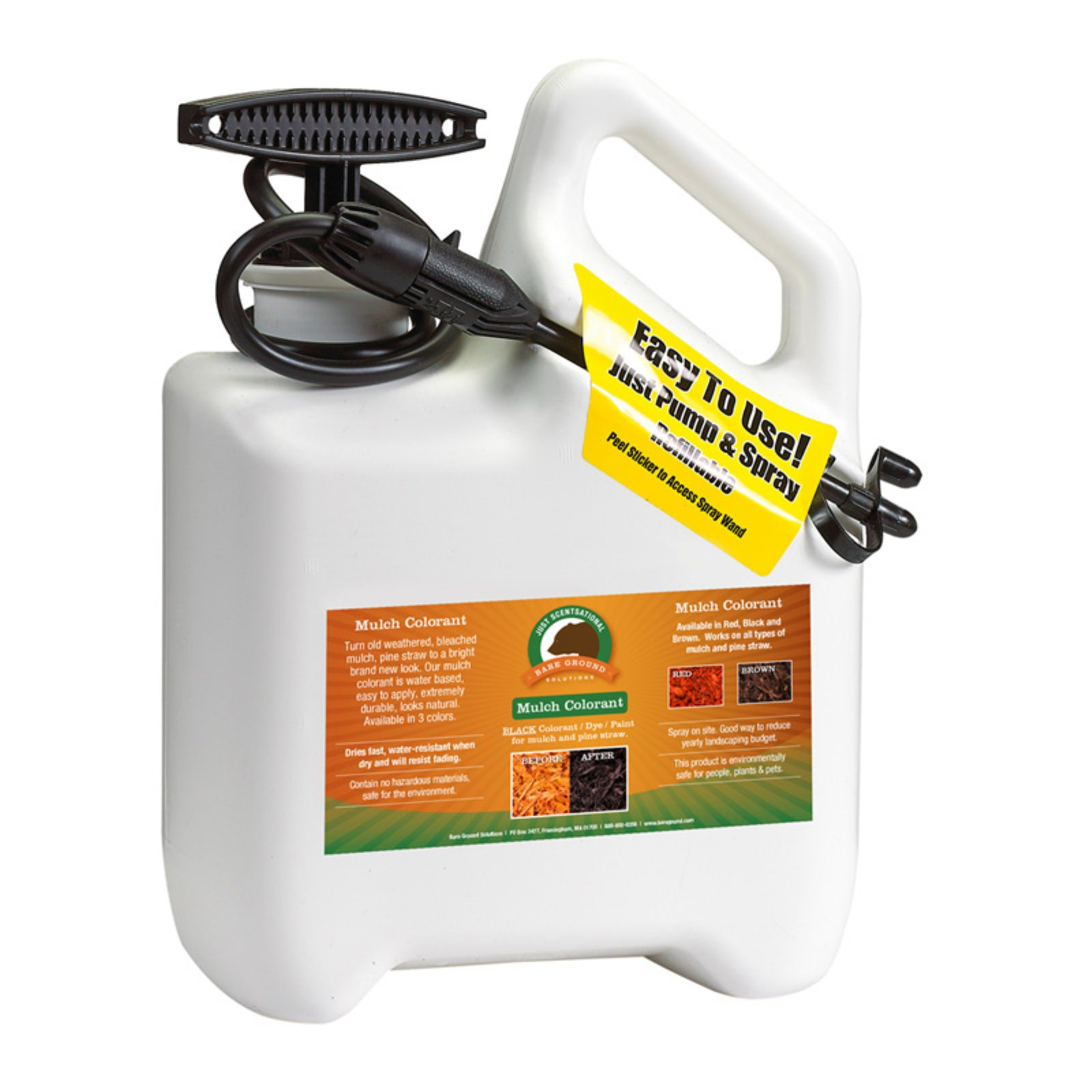 Just Scentsational Mulch Colorant with Pump Sprayer by Bare Ground