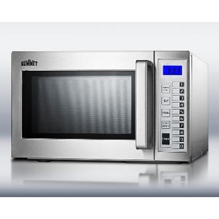 Commercially approved microwave stainless steel exterior Microwave with stainless steel interior