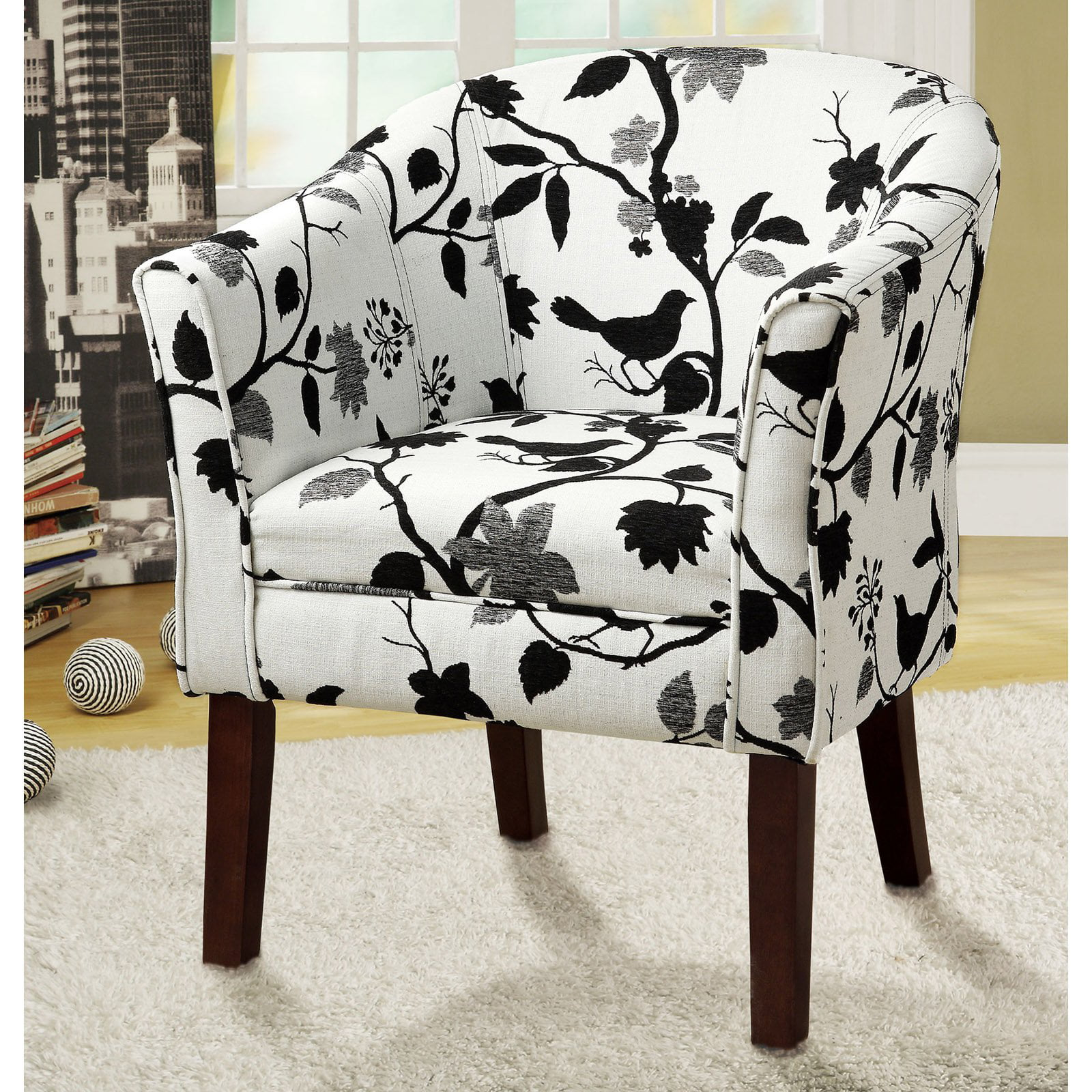 Strange Coaster Company Accent Chair Black And White Machost Co Dining Chair Design Ideas Machostcouk