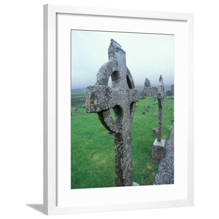 Celtic Cross Gravestone, County Clare, Ireland Framed Print Wall Art By Brent Bergherm