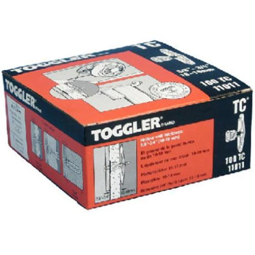 MECHANICAL PLASTICS CORP Toggler 100-Pack 5 8 x 3 4-Inch Plastic Wall Anchors by MECHANICAL PLASTICS CORP