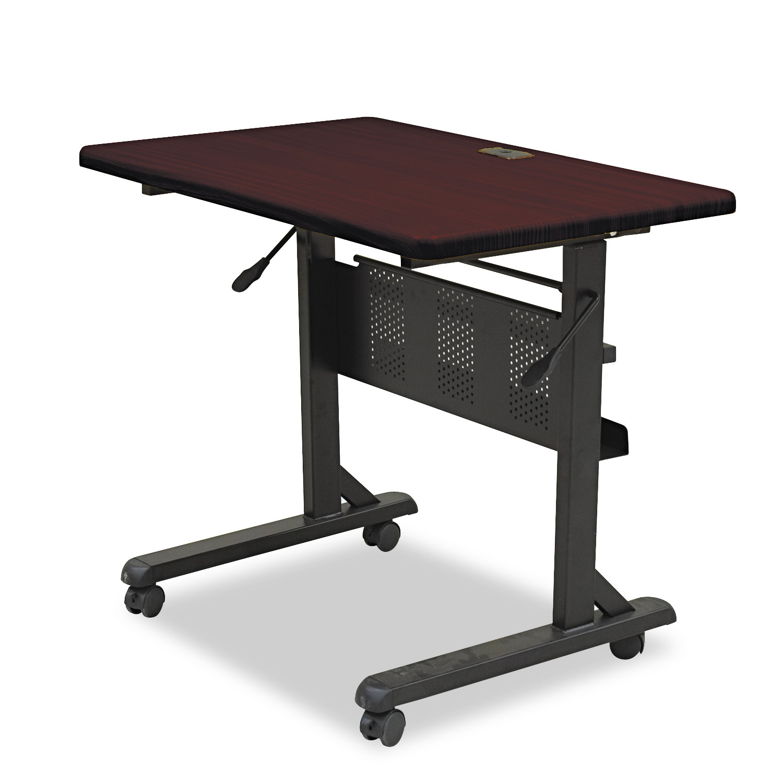 BALT Flipper Training Table, Rectangular, 36w x 24d x 29-1/2h, Mahogany/Black