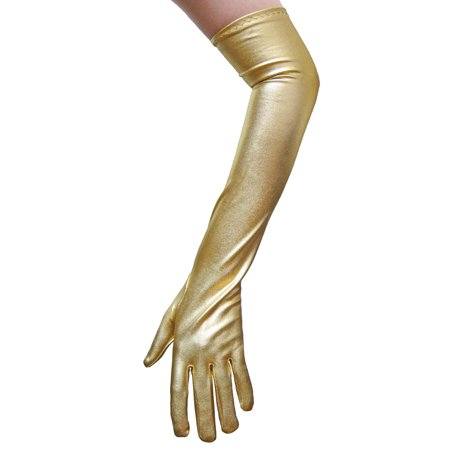 SeasonsTrading Gold Metallic Gloves - Costume, Prom, Party Dress Up
