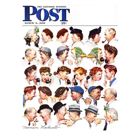 Saturday Evening Post Cover (Chain of Gossip