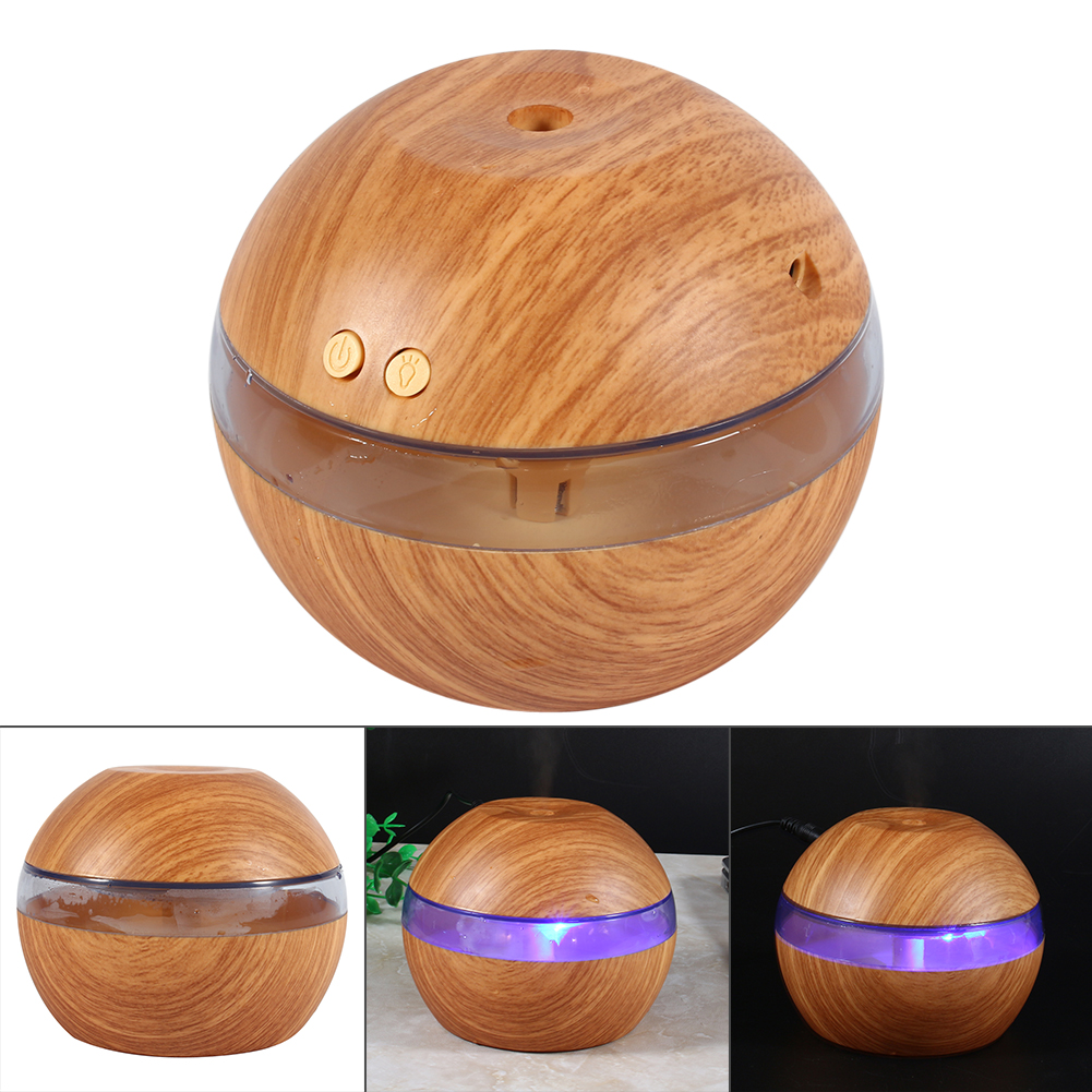 200ml Aroma Essential Oil Diffuser, Wood Grain Ultrasonic Cool Mist Humidifier for Office Home Bedroom Living... by