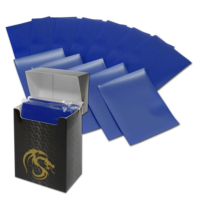 BCW Deck Guards 80-Count Double Matte Card Sleeves with Box - Blue (Standard)