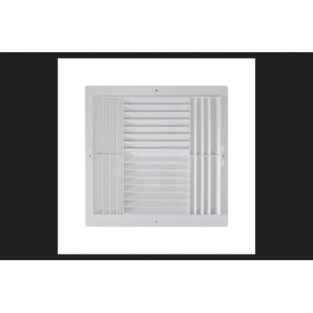 Deflect-O Jordan 12 in. H x 12 in. W Plastic White 4-Way Supply Wall/Ceiling Register