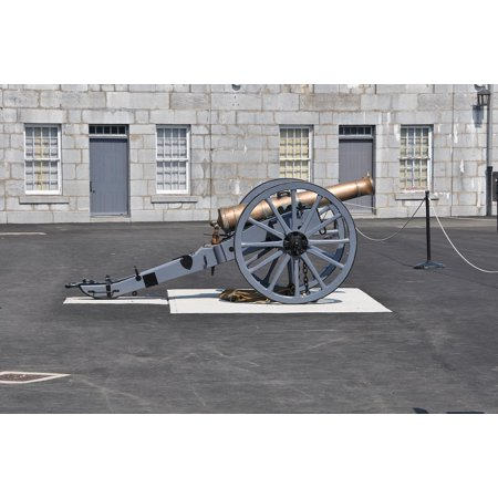 Canvas Print Military Cannon Fort Henry Canada Ontario Kingston Stretched Canvas 32 x - Canada Fort