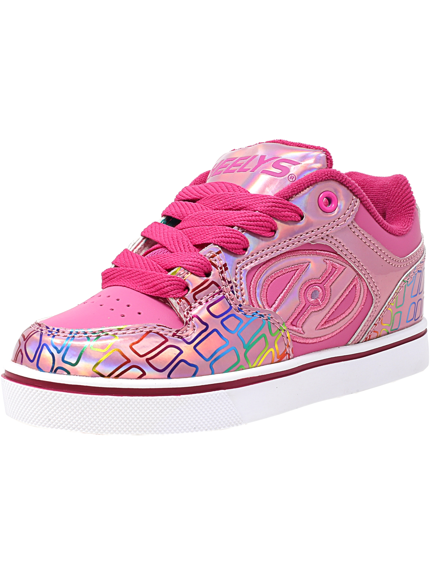 Heelys Motion Plus Pink / Light Multi Ankle-High Skateboarding Shoe - 7M