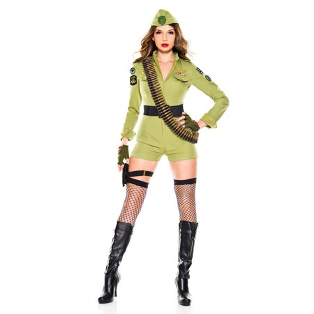 Femme Fatale Army Sergeant (Women's Army General Costumes)
