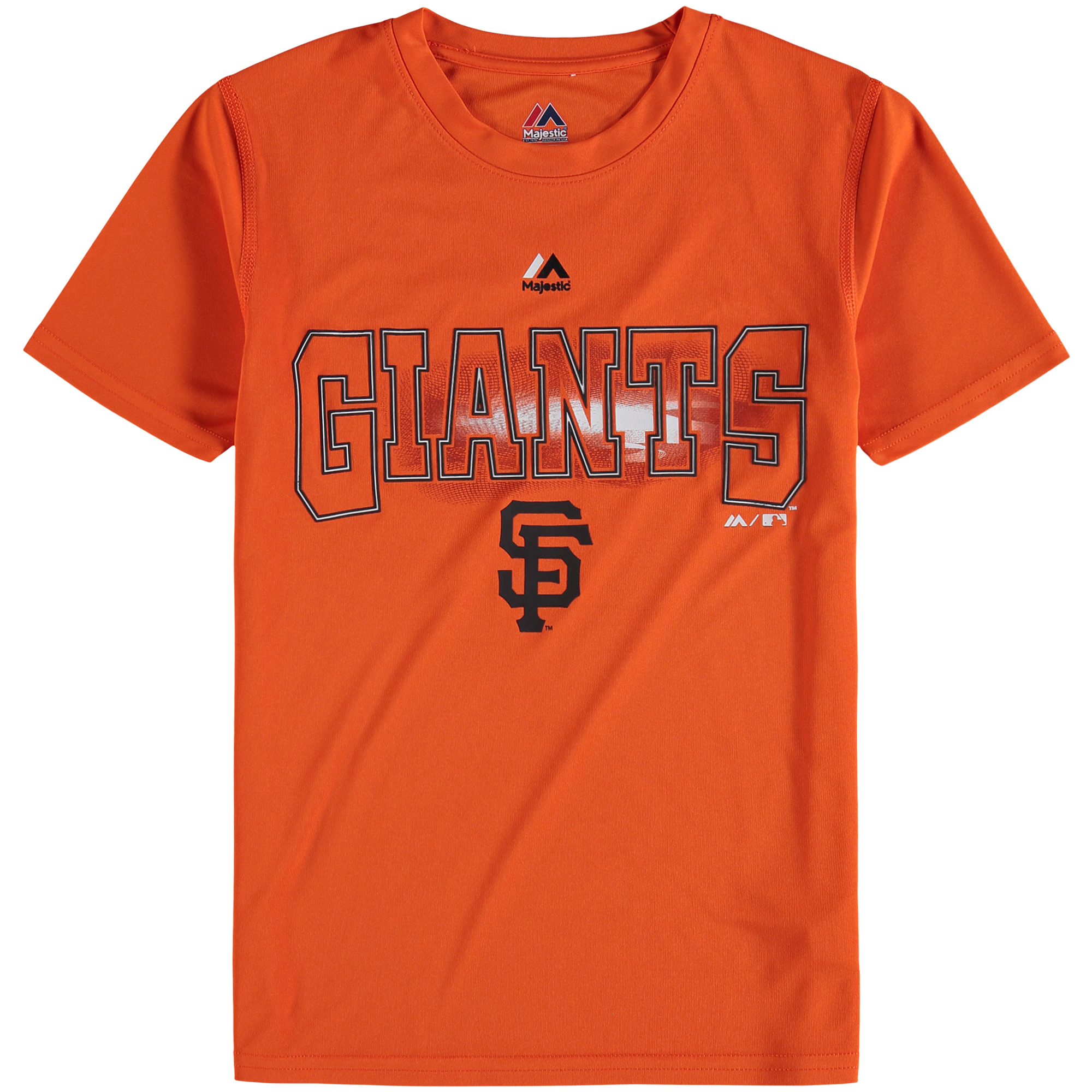 San Francisco Giants Majestic Youth Light Up the Field T-Shirt - Orange