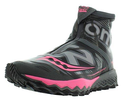 Saucony Women's Razor Ice+ Trail Running Shoe, Black White Combo, 8 M US by