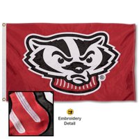 wisconsin badgers 3' x 5' nylon embroidered flag