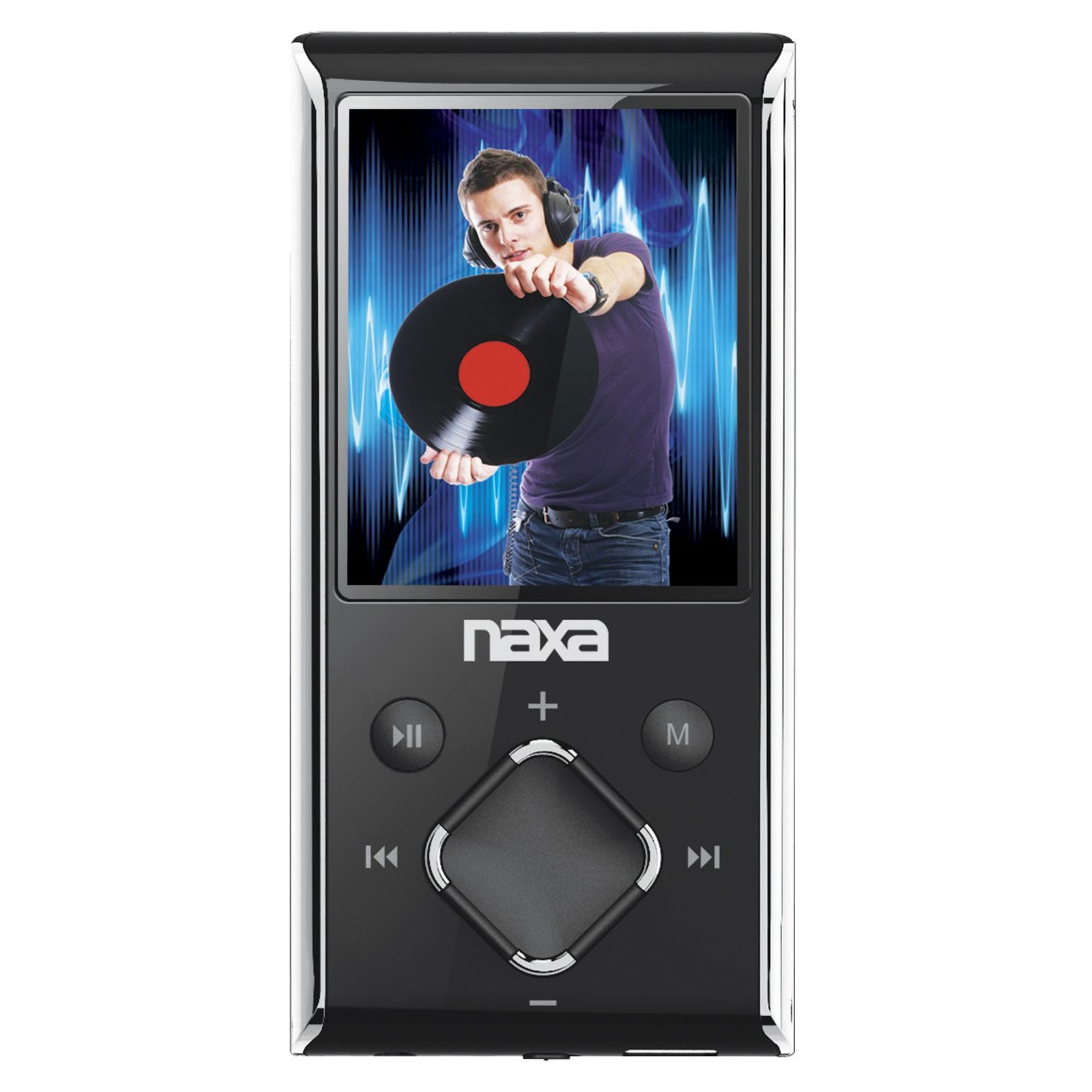 "Naxa Portable 8GB Media Player with 1.8"" LCD Screen- Silver"