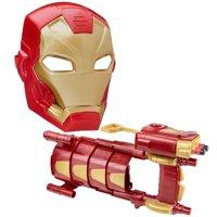 Marvel Captain America Iron Man FX Mask + Civil War Slide Armor