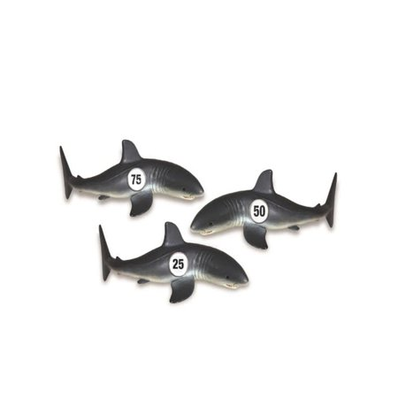Swim Central 3ct Shark Frenzy Swimming Pool Dive Toy Game 7