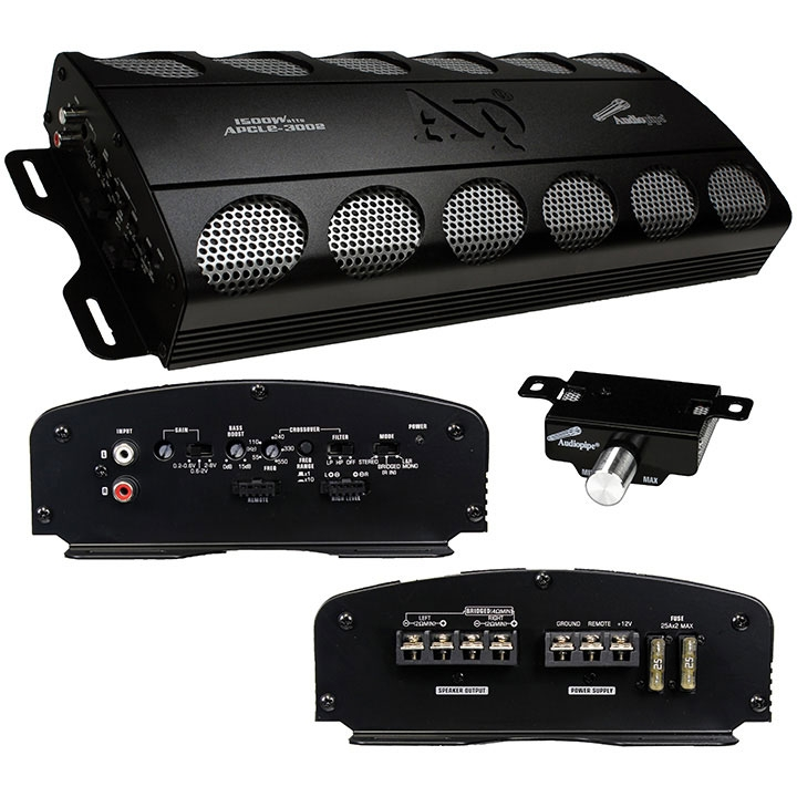 1500 Watt 2 Channel Stereo Amplifier Car Audio Amplifier For Stereo  - Black