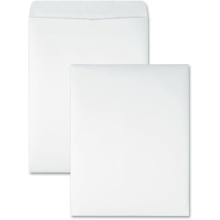 - Quality Park, QUA43717, Redi-Seal White Catalog Envelopes, 100 / Box, White