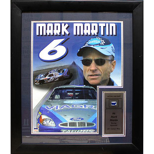NASCAR Mark Martin Game Used Frame, 12x18