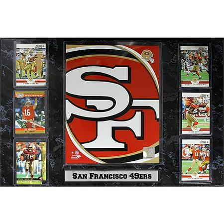 NFL San Francisco 49ers 6-Card Plaque, 13x20 (San Francisco 49ers Parking Sign)