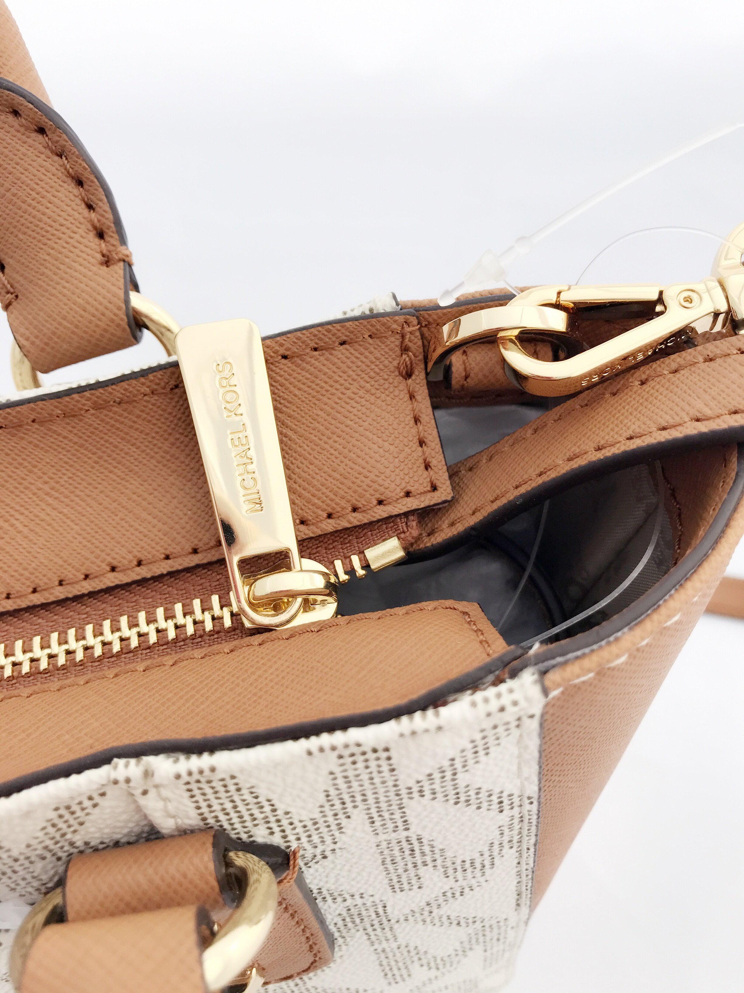 629b6b552354bb Michael Kors - Michael Kors Sandrine Pyramid Stud Mini Tote Crossbody Bag  Vanilla MK Signature - Walmart.com