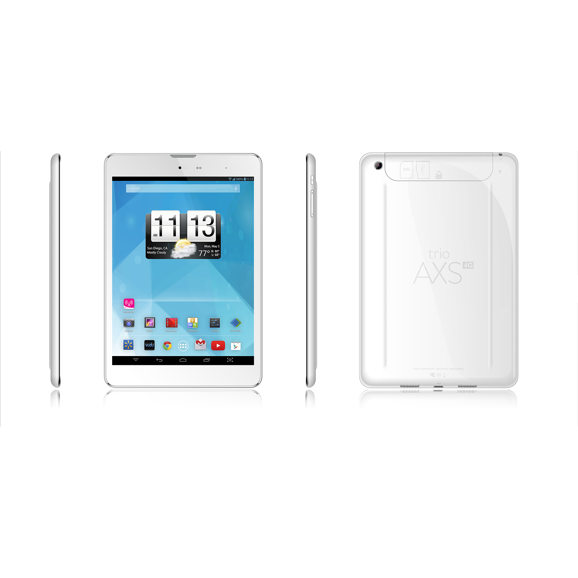 Trio axs 4g 785 tablet with 16gb memory white walmart fandeluxe Image collections