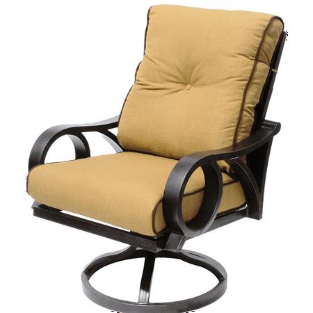 Channel Cast Aluminum Outdoor Patio Swivel Rocker Chair - Channel Cast Aluminum Outdoor Patio Swivel Rocker Chair - Walmart.com