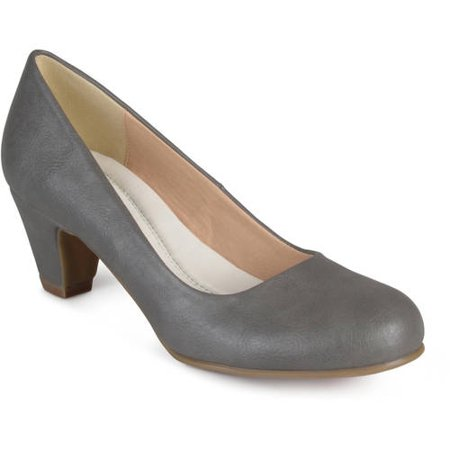 Tan Peep Toe Pumps (Brinley Co. Women's Round Toe Comfort Fit Classic)