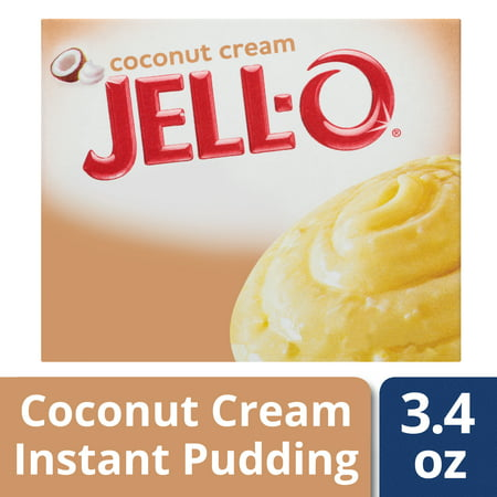 (4 Pack) Jell-O Instant Coconut Cream Pudding & Pie Filling, 3.4 oz Box