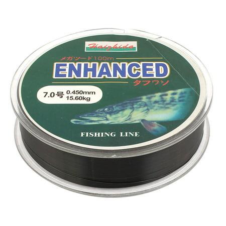 7# Black Nylon 0.45mm Dia 15.6Kg Thread Fishing Lure Line Spool 100M - image 1 of 1