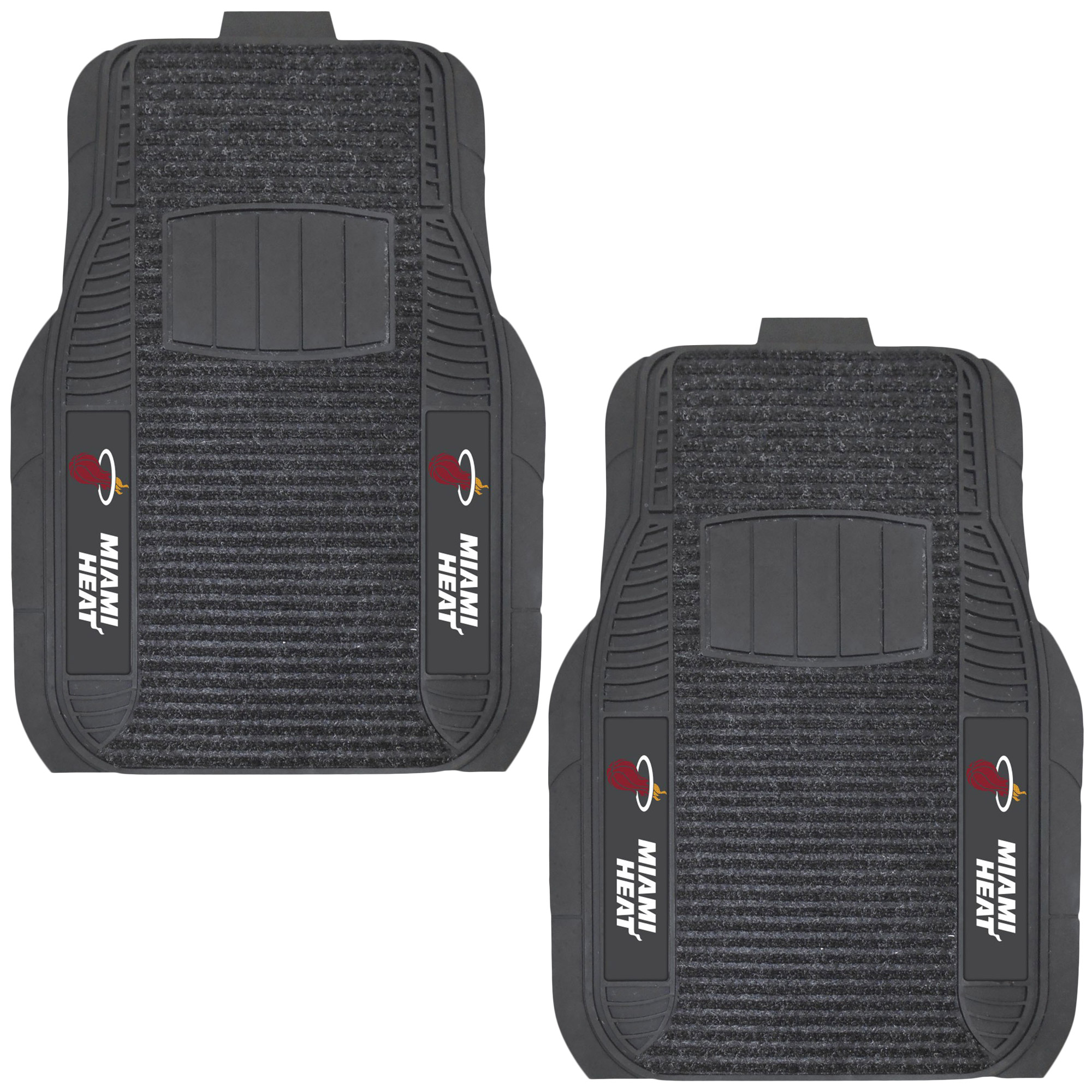 Miami Heat Two-Piece Deluxe Car Mat Set - No Size