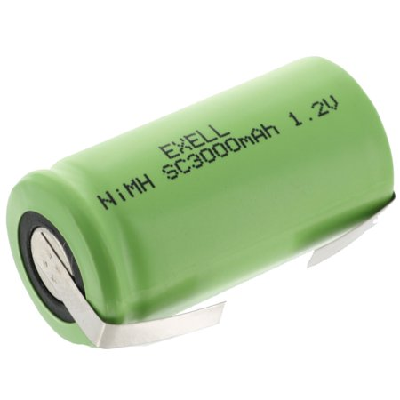 Exell 1 2V SubC 3000mAh NIMH Rechargeable Battery w/ Tabs FAST USA SHIP