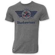Budweiser Men's Gray Vintage Logo Pop Top T-Shirt