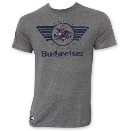 1d6b606de9be4 Budweiser - Budweiser Men s Gray Vintage Logo Pop Top T-Shirt ...