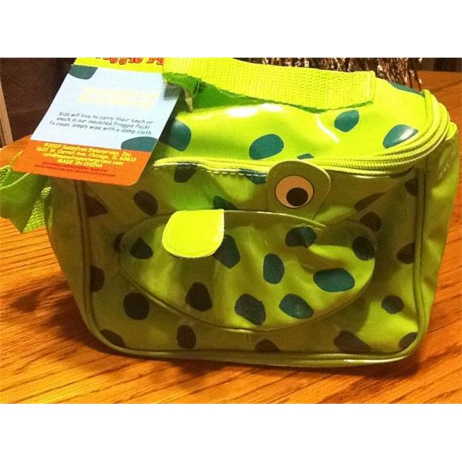 Sassafras Enterprises 3521FG Kids Froggie Pack Insulated Lunch Bag with Free Kids Puzzle