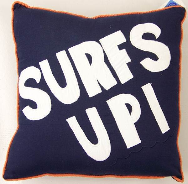 Catch a Wave Surf's Up Pillow