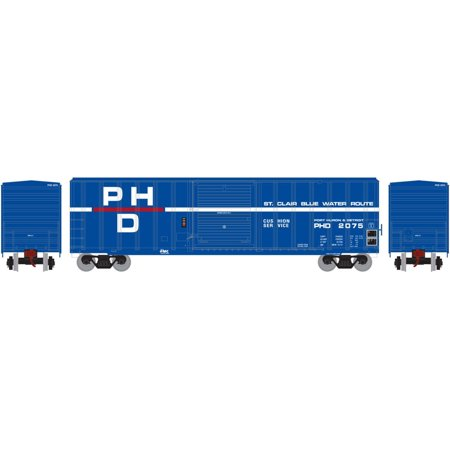 Athearn Ho Scale 50Ft Fmc 5347 Box Car St  Clair Blue Water Route Ph  2075