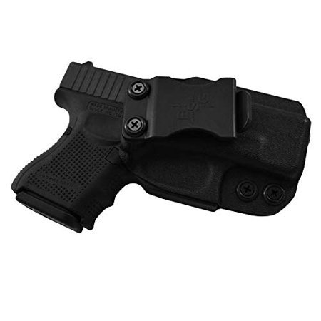 IWB KYDEX Holster: Fits Glock 26 27 33 (Gen 1-5) | Made in USA | Custom Fit  | Inside Waistband | Adjustable Cant/Retention System (Right Hand) Color: