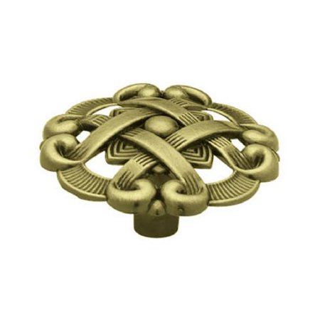 Brainerd Mfg Co/Liberty Hdw P77200H-AB-C7 Weave Round Cabinet Knob, 1-1/2-In. Antique Brass, Must Purchase - Quantity 12