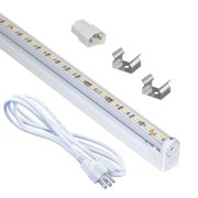 Rossum LED Linear Light Strip with a Contemporary Clear Shade and White Finish