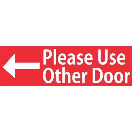 10x3 Red Please Use Other Door Magnet Magnetic Business Signs Magnets Sign Decal