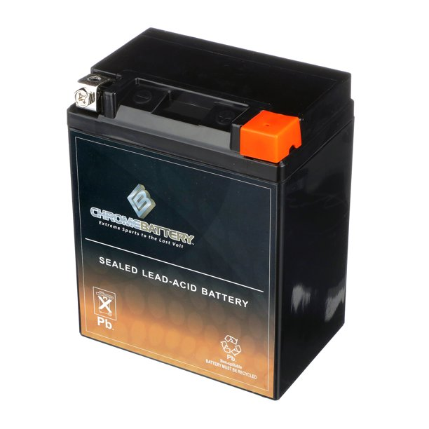Chrome Battery Yb14l A2 14l A2 12 Volt 14 Ah 190 Cca Motorcycle Battery For Kawasaki Ex500 D Ninja 500 Year 94 10 Walmart Com Walmart Com