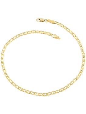 18kt Gold-Plated Sterling Silver Marina 040 Chain Anklet