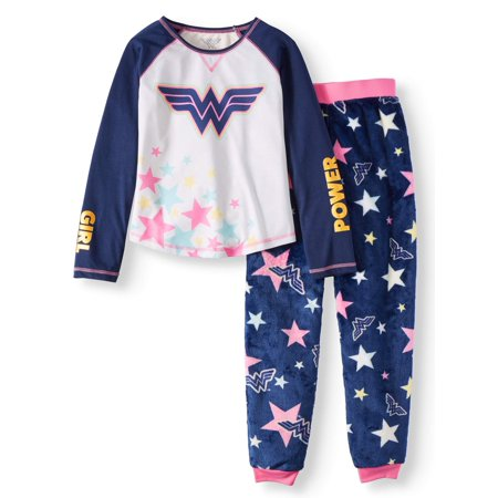 Wonder Woman Girls' Sporty Pajama Set (Little Girls & Big Girls) - Cute Dresses For Girls 10-12