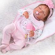 "Zimtown 22"" Full Body Silicone Vinyl Reborn Doll Lifelike Anatomically Correct Baby Girl"