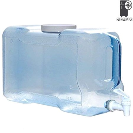 BPA-Free Refrigerator Water Dispenser 2 Gallon Reusable Plastic Bottle Jug Container ()
