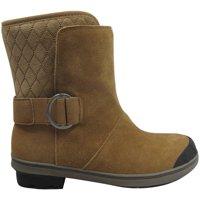 Womens Short Buckled Winter Boots