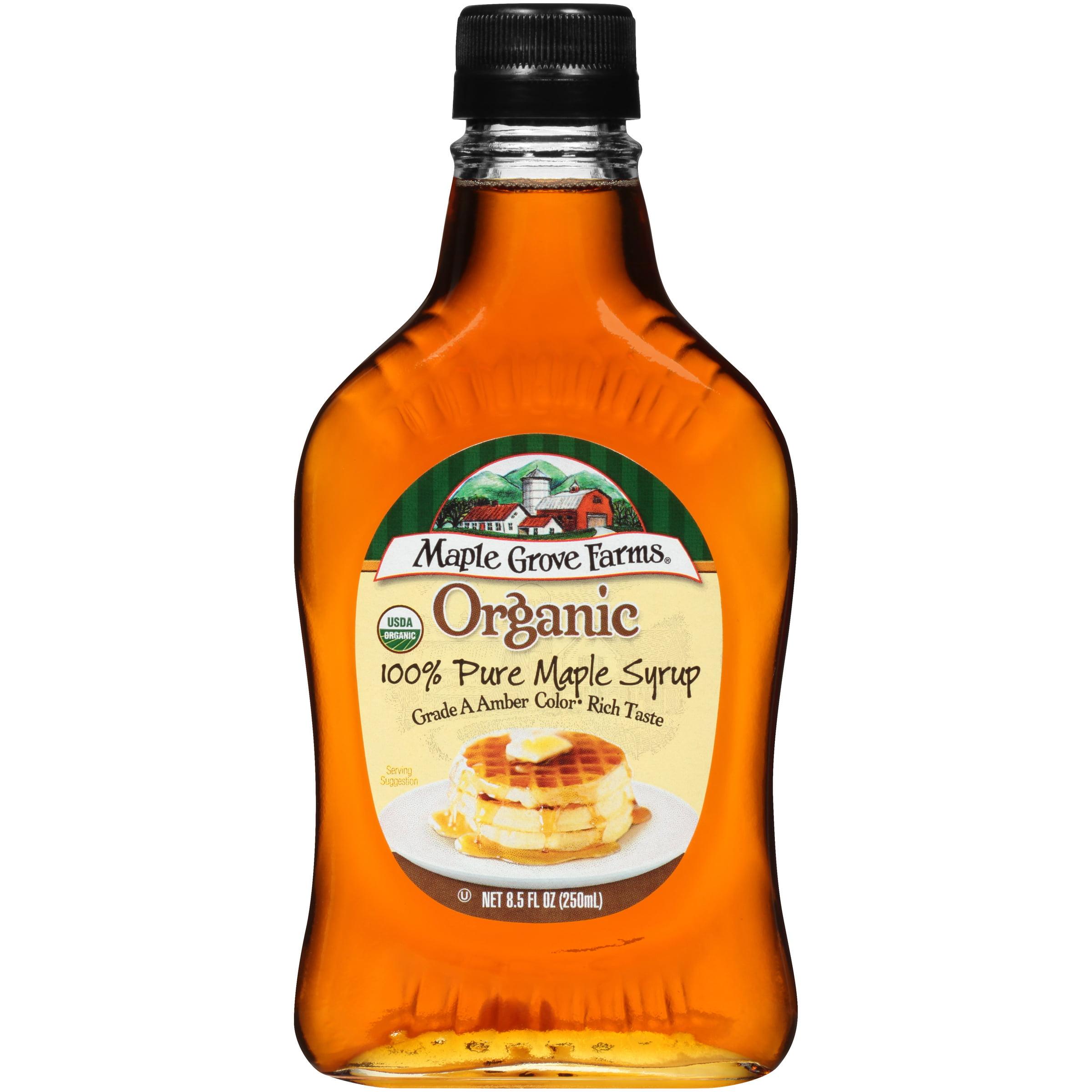 Maple Grove Farms Organic 100 Pure Maple Syrup 8 5 Fl Oz Bottle Walmart Com Walmart Com