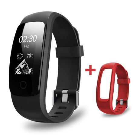 AMERTEER Fitness Trackers Activity Tracker Heart Rate Monitor Smart Bracelet Bluetooth 4.0 Waterproof Smart watch Band Pedometer Wristband Sleep Monitor Step Tracker Smart (Bluetooth Low Energy Heart Rate Monitor Chest Strap)