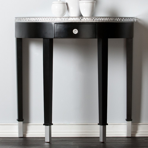 Wildon Home  Carmichael Console Table - Mirrored Demilune